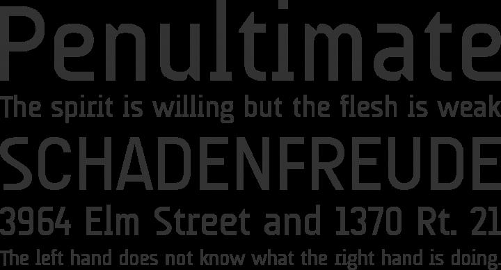 AUdimat Font Phrases