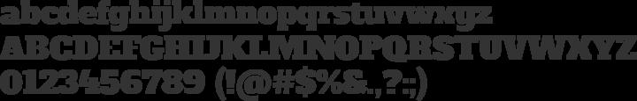 Alfa Slab Font Specimen