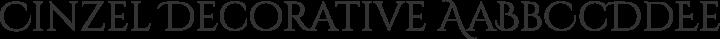 Cinzel Decorative Regular free font