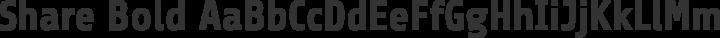 Share Bold free font