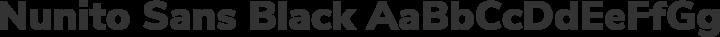 Nunito Sans Black free font