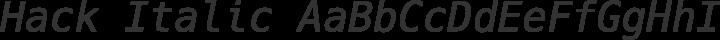 Hack Italic free font
