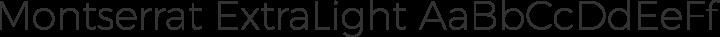 Montserrat ExtraLight free font