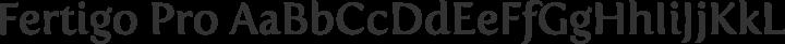 Fertigo Pro Regular free font