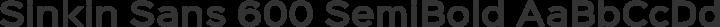 Sinkin Sans 600 SemiBold free font