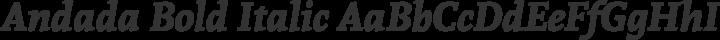 Andada Bold Italic free font