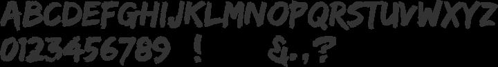 Edo Font Specimen
