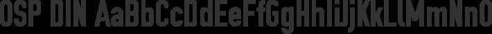 OSP DIN font family by OSP-foundry