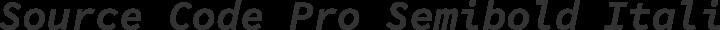 Source Code Pro Semibold Italic free font