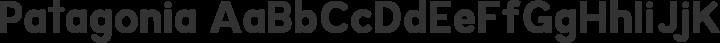 Patagonia Regular free font