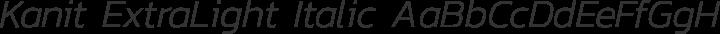 Kanit ExtraLight Italic free font