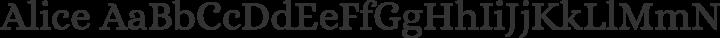 Alice Regular free font