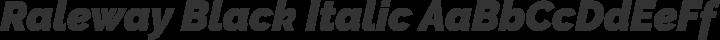 Raleway Black Italic free font