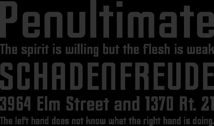 Slim Jim Font Phrases