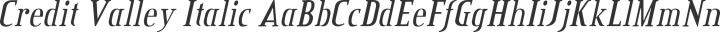 Credit Valley Italic free font