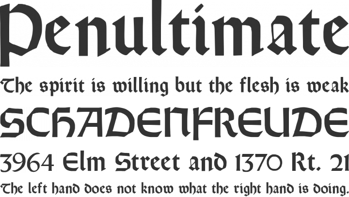 Orotund Font Phrases