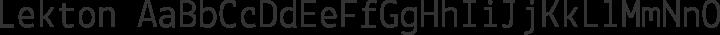 Lekton Regular free font