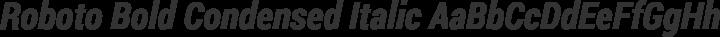 Roboto Bold Condensed Italic free font