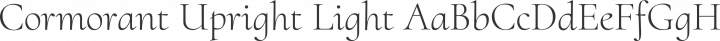 Cormorant Upright Light free font