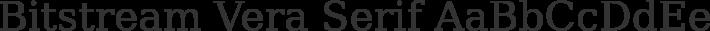 Bitstream Vera Serif font family by Bitstream