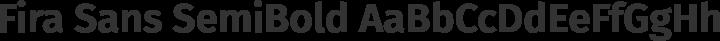 Fira Sans SemiBold free font