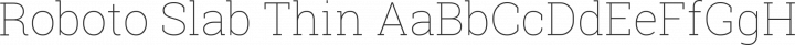 Roboto Slab Thin free font