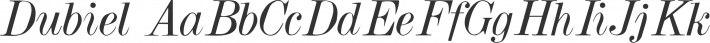 Dubiel font family by David Rakowski