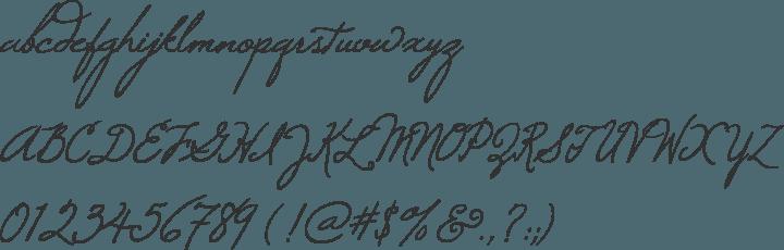 Windsong Font Specimen