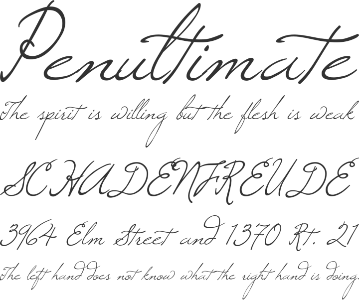 Windsong Font Phrases