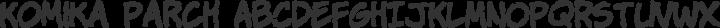 Komika Parch Regular free font