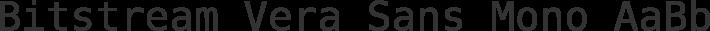 Bitstream Vera Sans Mono font family by Bitstream