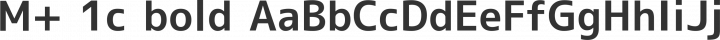 M+ 1c bold free font