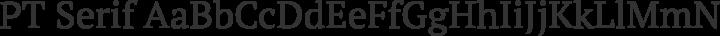 PT Serif Regular free font