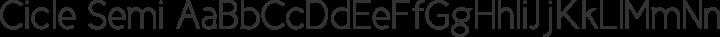 Cicle Semi free font