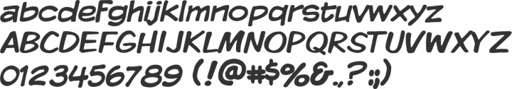 Komika Display Font Specimen