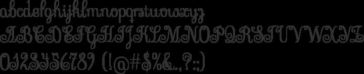 Sevillana Font Specimen