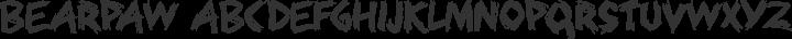 Bearpaw Regular free font