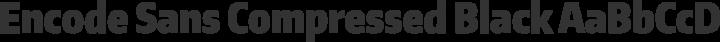 Encode Sans Compressed Black free font