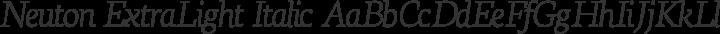 Neuton ExtraLight Italic free font