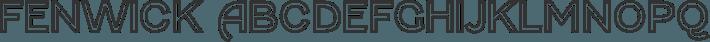 Fenwick font family by Typodermic