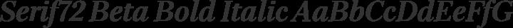 Serif72 Beta Bold Italic free font