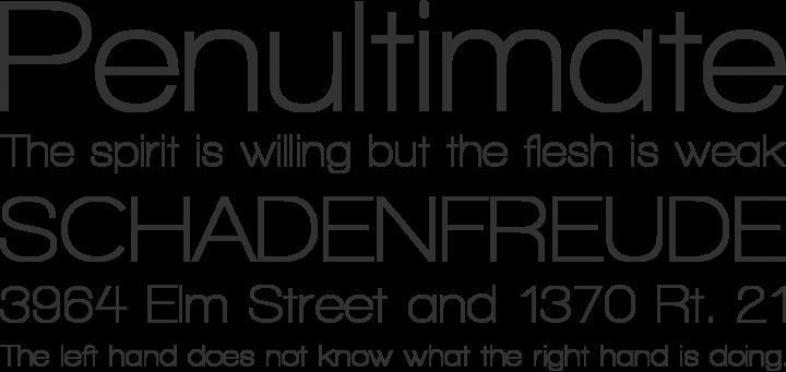 Walkway Font Phrases