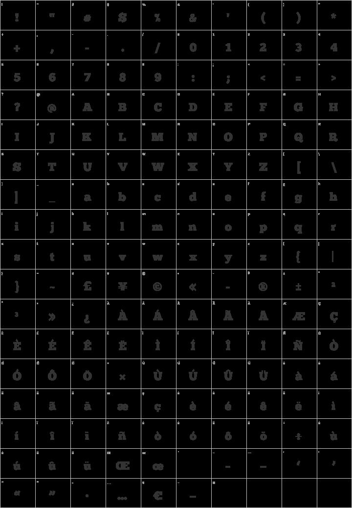 ChunkFive Glyph Map