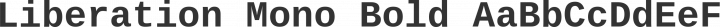 Liberation Mono Bold free font