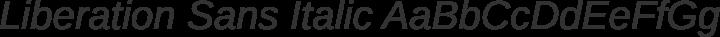 Liberation Sans Italic free font
