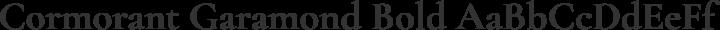 Cormorant Garamond Bold free font
