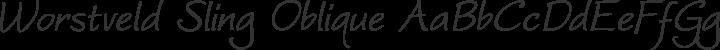 Worstveld Sling Oblique Regular free font