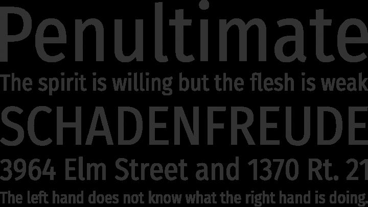 Fira Sans Condensed Font Phrases