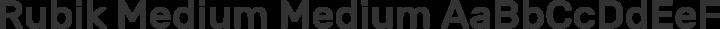 Rubik Medium Medium free font