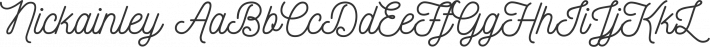 Nickainley font family by Seniors Studio
